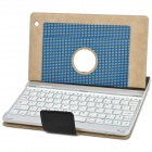 Wireless Bluetooth V3.0 78-Key Keyboard w/ PU Leather Case for Ipad 2 / The New Ipad - Black + White