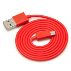 Micro USB Male to USB Male Data Cable - Red (95cm)