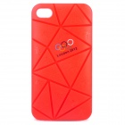 Irregular Gap Coin Stand Protective Plastic Case w/ 2012 Olympics Logo for iPhone 4 / 4S - Red