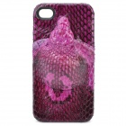 Lifelike Three-Dimensional Snake Pattern Protective Back Case for iPhone 4 / 4S - Purple