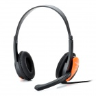 HUMEI HM-3440 Stylish Stereo Headphones Headset w/ Microphone / Volume Control - Black (3.5mm-Plug)