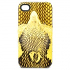 Lifelike Three-Dimensional Snake Pattern Protective Back Case for iPhone 4 / 4S - Yellow
