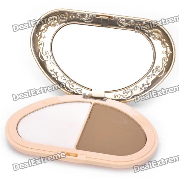 BOB Cosmetic Makeup Powder w/ Mirror - (20g, 003#) bob cosmetic makeup powder w puff mirror dark beige 03
