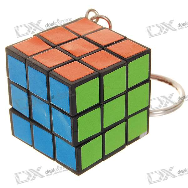 Mini IQ Cube Keychain 3d apple brain teaser crystal puzzle iq toy color asserted 2 l736