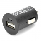 Mini USB 2.0 Car Cigarette Powered Charger for Iphone / Nokia / HTC - Black (12V)