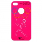 A20 2012 England Olympics Series Protective Plastic Back Case for iPhone 4 / 4S - Deep Pink