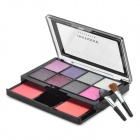 03# Cosmetic Makeup 8-Color Eye Shadow + 2-Color Blush Rouge Kit w/ Brush
