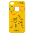 A21 2012 England Olympics Series Protective Plastic Back Case for iPhone 4 / 4S - Yellow