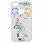 A22 2012 England Olympics Series Protective Plastic Back Case for iPhone 4 / 4S - White