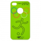 A17 2012 England Olympics Series Protective Plastic Back Case for iPhone 4 / 4S - Green