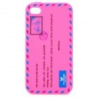 Envelope Pattern Protective Silicone Back Case for Iphone 4 / 4S - Pink