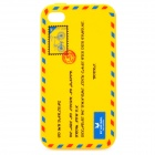 Envelope Pattern Protective Silicone Back Case for Iphone 4 / 4S - Yellow