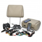 "AST7000DVD Car Headrest 7"" LCD DVD Media Player with AV-Out / MMC / MS / SD Slot - Khaki (2-Piece)"