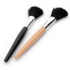 Plastic & Fiber Cosmetic Makeup Brush - Black + Yellow (2-Piece-Pack / 20cm)