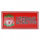 Liverpool Football Club Logo Aluminum Alloy Auto-Aufkleber - Red