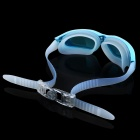 Stylish PC Lens Swimming Goggle Glasses w/ Carrying Box - Blue