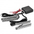 RH-809 4-in-1 1.5W 80LM 36-LED RGB Light Car Lamps with Controller (12~14.5V)