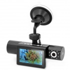 "5.0MP CMOS Dual Lens Wide Angle Car DVR Camcorder w/ HDMI / TF - Black (2.7"" TFT)"