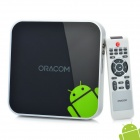ORACOM TB100 Android 2.3 Network Media Player w/ Dual USB / SD / HDMI / RJ45 / WiFi - Black (4GB)