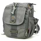 Protective Water Resistant Canvas One Shoulder Camera Bag - Grey