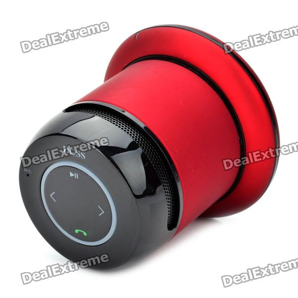 Doss Asimom DS-1168 Bluetooth Speaker Voice Prompt BT V2.1+EDR Handsfree-Red for Ipad/Iphone/Samsung