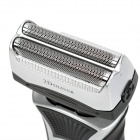 Rechargeable Dual-Blade Electric Shaver - Black + Silver