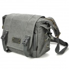 Stylish Canvas One Shoulder Rain-Resistant Bag for Camera - Grey