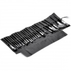Professional 24pcs Cosmetic Make-up Brushes Set - Black