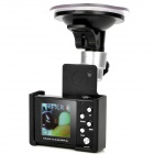 "Mini 3.0MP 1/3.2"" CMOS Wide Angle Car DVR with TF Slot / 2X Digital Zoom - Black (1.4"" LCD)"