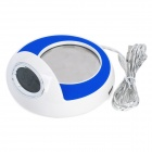 "Stylish 1.8"" LCD Display USB Powered Warmer Cup Pad - Blue + White"