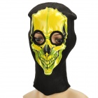 Skull Design Knitted Balaclava Face Mask - Black + Yellow