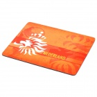Netherlands National Football Team Logo Rubber Mouse Pad - Orange