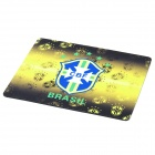 Brazil National Football Team Logo Mouse Pad - Black + Yellow