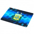 Argentina National Football Team Logo Rubber Mouse Pad Mat - Blue + Black