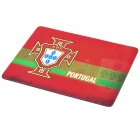 Portugal National Football Team Logo Rubber Mouse Pad Mat - Green + Red