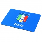 Italy National Football Team Logo Rubber Mouse Pad Mat - Blue