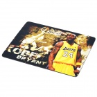 Kobe Bryant Pattern Rubber Mouse Pad - Yellow + Black