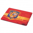 Spain National Football Team Logo Rubber Mouse Pad Mat - Red