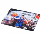 Jeremy Lin Pattern Rubber Mouse Pad - Blue + White + Orange