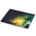 Kevin Garnett Pattern Rubber Mouse Pad - Black + Yellow + Green