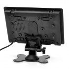 "7"" TFT LCD Car Video Stand Monitor with Remote Controller - Black"