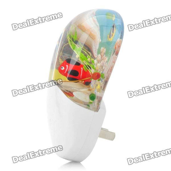 Fish Tank Style Energy Saving White LED Light Control Night Lamp (220V)
