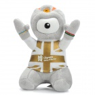 2012 London Summer Olympics Mascot Wenlock Short Plush Doll Toy - Grey + White