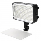 5500~3200K 198-LED White & Orange Light Video Lamp w/ Filter for Camera / Camcorder - Black