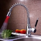 RGB LED Light Water Temperature Visualizer Kitchen Faucet Water Tap with Ceramic Valve