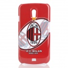 Protective AC Milan Pattern Plastic Back Case for Samsung i9250 - Red