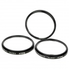 Emolux 58mm Close Up +1 / +2 / +4 Filter Set - Black (3 Pieces Pack)