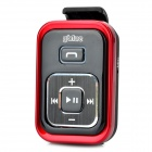 GBLUE N6 Bluetooth V2.1+EDR Clip-On Receiver w/ 3.5mm Earphone - Black + Red (180 Hours-Standby)