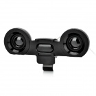 USB Powered 2.0-CH Laptop Speakers - Black (3.5mm-Plug)