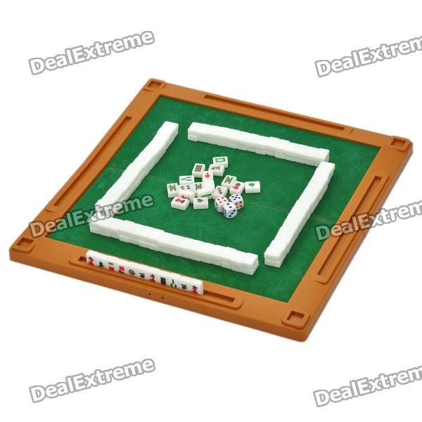 Portable 4 In 1 Traveling Mahjong U0026 Poker Games Set With Mini Table